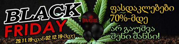 Black FridayGanja Seeds - ზე - დიდი ამოყიდვა!